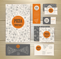 Pizza corporate idedtity, document template design