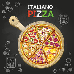 Italiano Pizza poster background