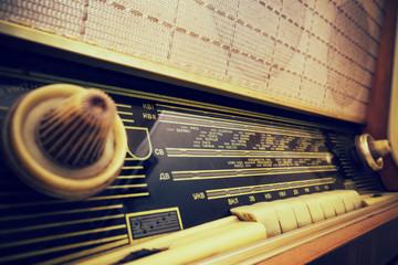 Old radio closeup