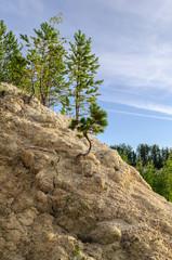 Kaolin quarry  in Kyshtym