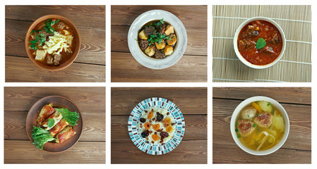 Food set oriental cuisine
