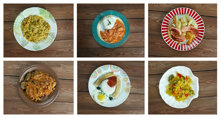 Food set . southern food.