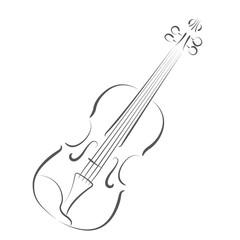 Sketched violin.