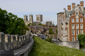 Fortified Cities,York Bar Walls with York Minster in the background,York, UK