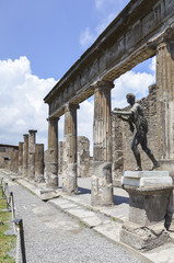 Temple of Apollo in Pompeii , Italy