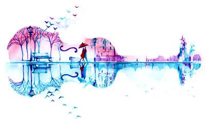 Foto auf Leinwand Gemälde romantic plot