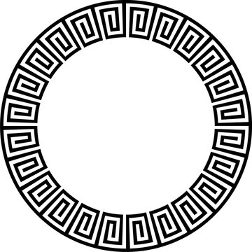 Ancient Aztec circular design
