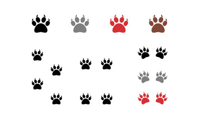 Animal Paw Claw Vector Variation