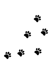 Trace the Animal Footprint - Vector
