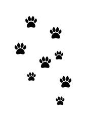 Animal Footprint Silhouette Vector