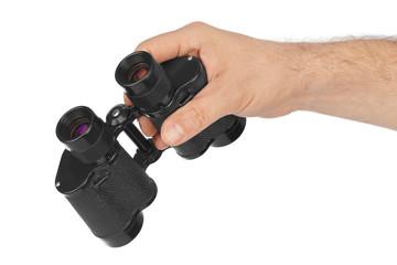 Hand with binoculars