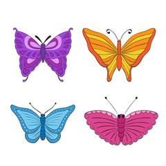 vector set. colorful butterflies