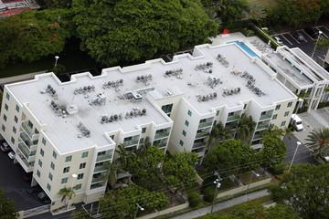 Building roof ac units
