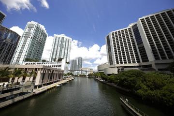 Miami River and Downtown Miami