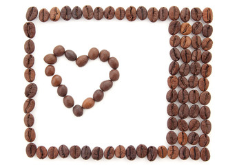 frame made of coffee beans
