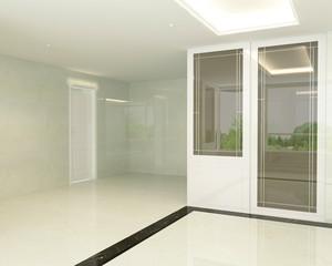 3D render of empty room interior