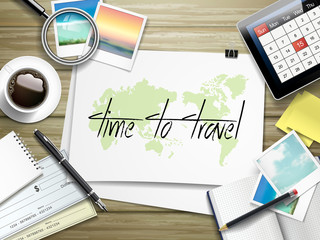 time to travel written on paper