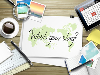 what is your story written on paper