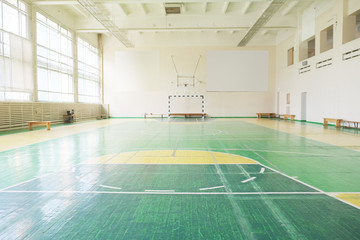 Interior of a Interior of a hall for sport games