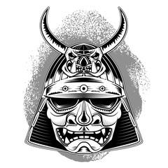 samurai mask.design element in vector