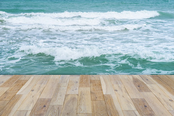 Wooden terrace on the Sea