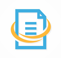 Vector document file logo or icon