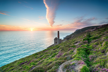 Sunset at St Agnes in Cornwall