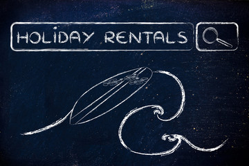 online search for holiday rentals
