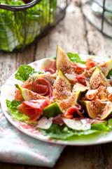 Feigen Salat mit parma schinken