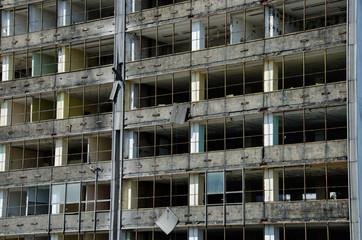 Demolition skyscraper.