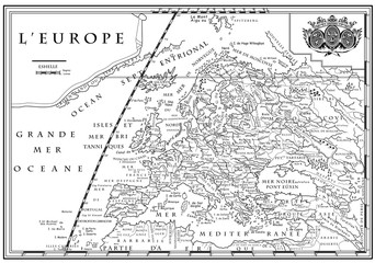 Old European map