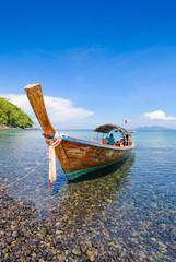 Long tail boat at Koh Hin Ngam, Krabi, Thailand