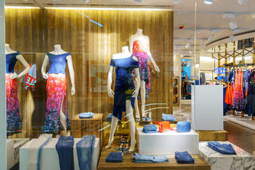 modern shopfront display window