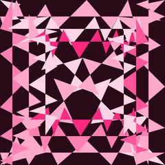 Abstract Pink Triangle Background Vector