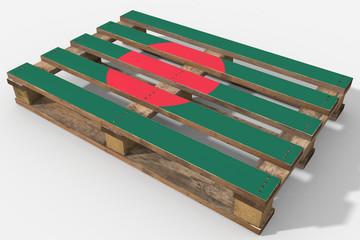 Pallet 3D con bandiera Bangladesh