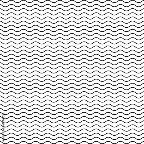 Black Seamless Wavy Line Pattern Stock Image And Royaltyfree Classy Wavy Pattern