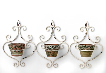 three flowerpots