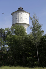 wasserturm der stadt neumünster in schleswig holstein
