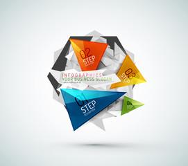 Triangle shape modern paper infographics