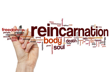 Reincarnation word cloud Fototapete