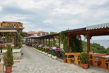 Editorial - very old city Nessebar on Black sea, Bulgaria