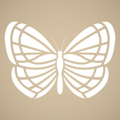 Butterfly silhouette. Tattoo style