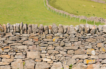 Dry stone wall The Gower Peninsula South Wales UK