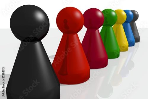mensch rger dich nicht figuren 3d stockfotos und lizenzfreie bilder auf bild. Black Bedroom Furniture Sets. Home Design Ideas