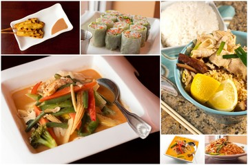 Thai Food Collage