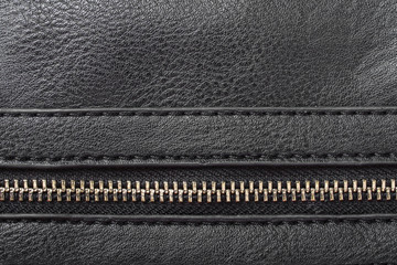 dark artificial leather with zipper for background