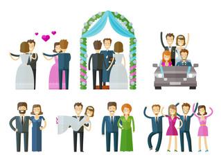 wedding, marriage, nuptial vector logo design template. ceremony