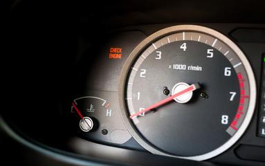 Check engine light on - Dashboard warning light