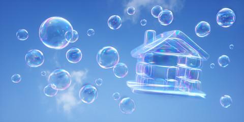 Haus aus Seifenblasen