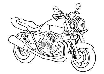 オートバイのイラスト